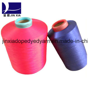 100d/36f DTY 100% Polyester Filament Yarn Dope Dyed pictures & photos