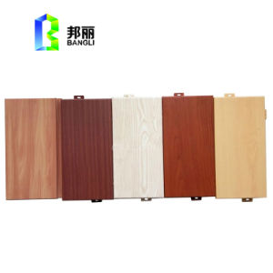 Wood Color Coated Aluminum Panel for Facade Cladding Wooden Like Aluminum Profile pictures & photos