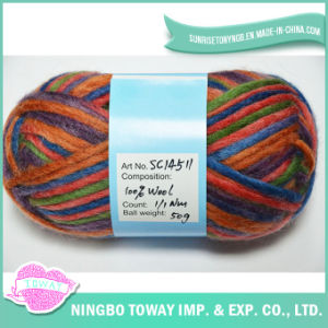 Coloured Dyed Cheap Blanket Chunky Carded Knitting Wool for Baby pictures & photos