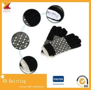 New Soft Winter Touch Sceen Gloves with Jacquard pictures & photos