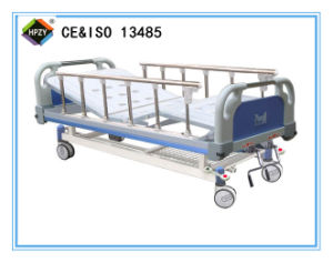 (A-48) Movable Double-Function Manual Hospital Bed with ABS Bed Head