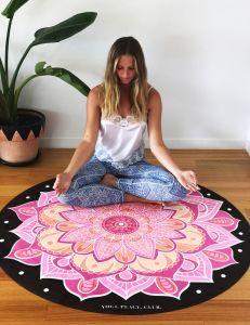 Mandala Microfiber Round Yoga Mat Factory Price pictures & photos