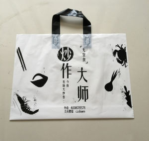 Hot Selling Trifold Handle LDPE HDPE Plastic Shopping Bag with Low Price pictures & photos