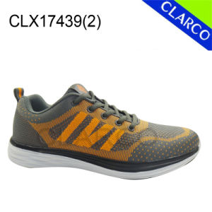 Men Sports Running Sneaker Shoes with Flyknit Mesh pictures & photos