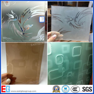 Clear&Tinted Acid Etched Glass/Sandblasted Glass/Colored Frosted Glass/Frost Glass/Sandblasting Glass/Obscure Glass pictures & photos