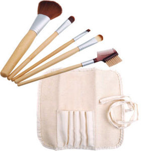 Wholesale 5PCS Synthetic Hair Bamboo Handle Makeup Brush Set pictures & photos