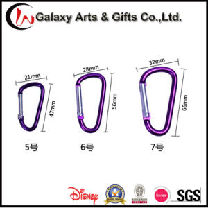 D Shape 6cm Colourful Safety Hiking Aluminum Snap Carabiner Climbing pictures & photos