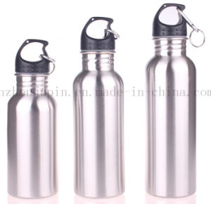 OEM Logo Advertising Sport Climbing Stainless Steel Bottle with Carabiner pictures & photos
