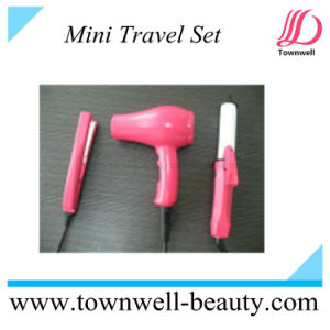China Factory Mini Set Hair Straightener Curler Dryer for Travel pictures & photos