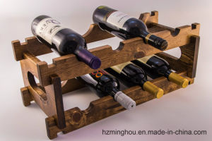 Hot Sales Solid Wood Stackable Display Stand for Wine Storage pictures & photos