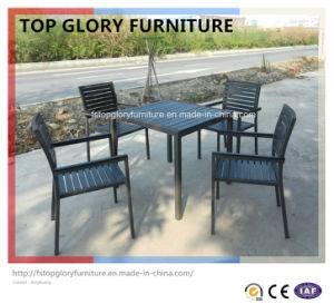 Comfortable Outdoor Synthetic Ploywood Top Dining Table and Chair (TG-1333) pictures & photos