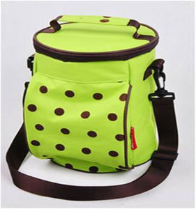 Manufacture Green Spot Portable Ice Cooler Shoulder Bags pictures & photos