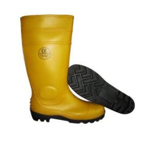 Heavy Industry Wellington Gum PVC Rain Boots Ce S4/S5 W-6039t pictures & photos