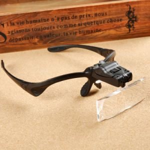 Head Wear Magnifier with Light Portable 2LED Light Loupe pictures & photos