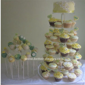 5 Tier Square Acrylic Wedding Cake Stand (BTR-K3019) pictures & photos