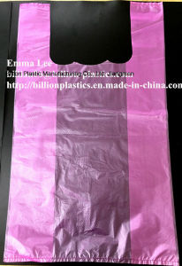 HDPE Plastic T-Shit Bag Handle Bag Plastic Carrier Bag pictures & photos
