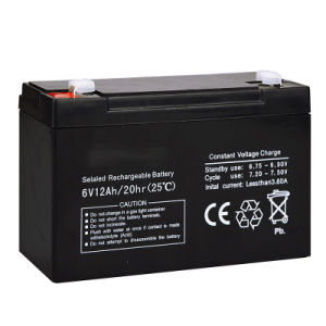 6V 12ah Sealed Lead Acid Battery for Speaker/Toy Car/LED Light pictures & photos