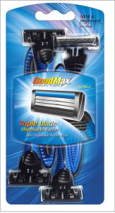 Good Quality 3 Blade Disposable Razor, Stainless Steel, Goodmax pictures & photos