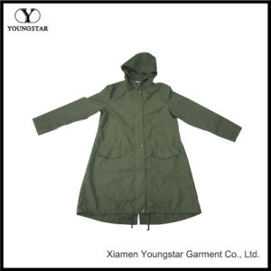 Dark Green Long Raincoat with Hot Sale Products pictures & photos