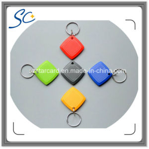 Cheap ABS Lf 125kHz/Hf 13.56MHz RFID Key Tag with Multi Color pictures & photos