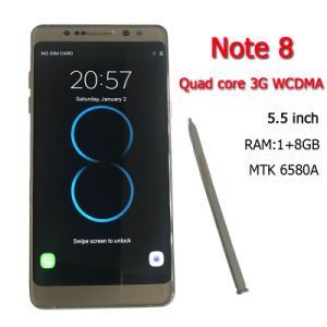DHL Free Shipping New Goophone Note 8 Mtk6580A 5.7inch Quad Core 3G WCDMA Android6.0 Cellphone RAM 1GB ROM 8GB ROM Show 4G Lte Smart Phones pictures & photos