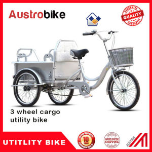 Electric Tricycle for Cargo with Big Basket pictures & photos