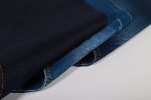 9oz Dark Blue Twill Cotton Polyester Spandex Denim Jeans Fabric pictures & photos