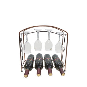 Nice Claret Wine Colored Wine Rack Standing Lighted Display Shelves pictures & photos