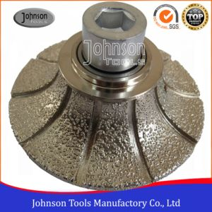 45-120mm Half Bullnose Diamond Vacuum Brazed Router Bits on CNC Machine for Stone Edging pictures & photos