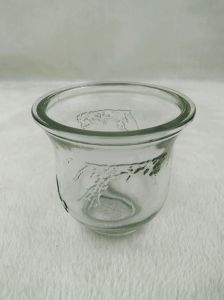 Clear Glass Candle Holder pictures & photos