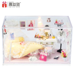 Korean Style Princess Wooden Mini Doll House pictures & photos