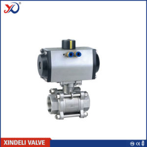 3 PC Bsp 3000wog Ball Valve with Mounting Pad pictures & photos