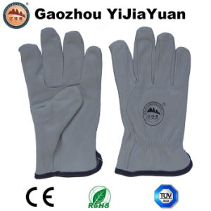 Goat Grain Leather Industrial Driving Gloves for Drivers pictures & photos