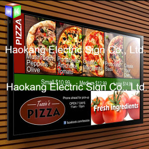 A2 Size Wall Mounted 100V - 240V Custom Snap Frame Poster Holder LED Menu Light Box pictures & photos