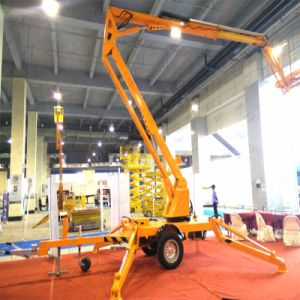Hot Sale! 200kg Load Capacity 10m Trailer Diesel Hydraulic Electric Articulated Boom Lift pictures & photos