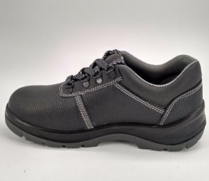 Black Leather Working Men Safety Shoes Ufe019 pictures & photos