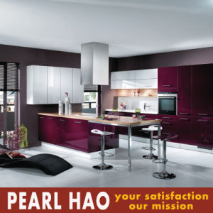 Wholesale Pink Acrylic Wood Kitchen Cabinet pictures & photos