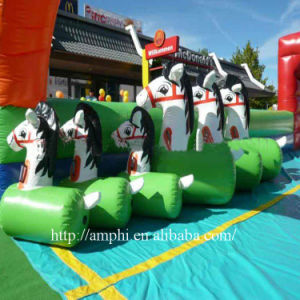 Most Popular Inflatable Games Fun Derby Inflatable Pony Horse Racing pictures & photos