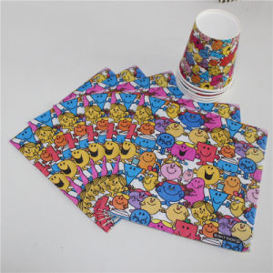 New Design Colorful Smile Face Paper Serviette 33*33cm/2ply & 33*33cm/3ply pictures & photos