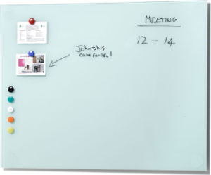 White Glass Writing Board Tempered Glass Writing Board pictures & photos