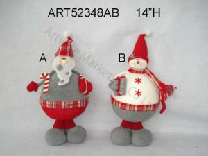 "14""H Standing Santa and Snowman, 2 Asst-Christmas Decoration pictures & photos"