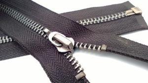 5# Metal Aluminum Zipper Open-End with Hook Nickle Slider