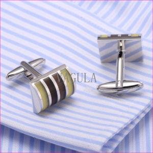 VAGULA High Quality Cuffs Catseye Gemelos Cuff Links Diamond Shirt Cufflinks 310 pictures & photos