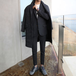 2016 Autumn Winter Men′s Fashionable Wool Cotton Coat pictures & photos
