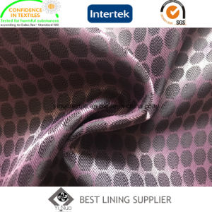 100 Polyester Two Tone Dobby Taffeta Lining Fabric Supplier pictures & photos