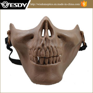 PRO Tactical Skull Skeleton Paintball Half Face Protect Adjustable Mask pictures & photos