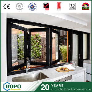 Australian Standard Aluminum Alloy Folding Windows with 3 Panels pictures & photos