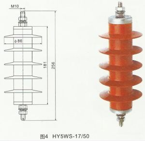 Outdoor High Voltage Lighting Arrester (Porcelain Tube Wear Wall) pictures & photos