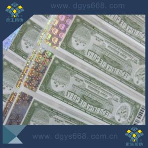 Anti-Counterfeiting Hot Stamping Hologram Paper Sticker pictures & photos