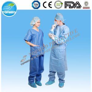 Medical Hospital Disposable Scrub Suit, Nonwoven Patient Suit pictures & photos